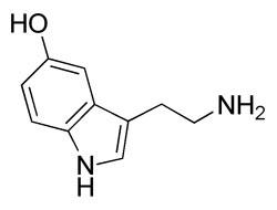 Serotonin Molecule Structure